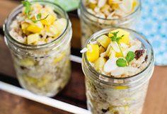 Kokos-Couscous mit Ananas und Mango