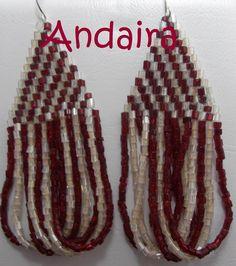 Andairadas: pendientes brick stitch