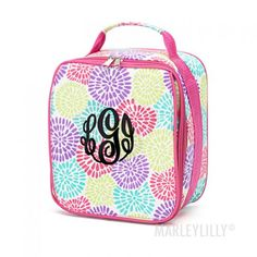 Monogrammed Lunchbox from Marleylilly.com! #monograms #lunchbox #backtoschool