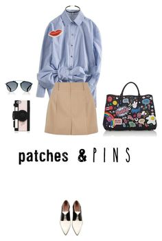 """""""pins&patches"""" by fanfan-zheng ❤ liked on Polyvore featuring RED Valentino, Chloé, Anya Hindmarch, Georgia Perry, Christian Dior, Kate Spade and patchesandpins"""