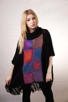Multicolor Plus size Sweater square Multicolor by Theworldofdolls