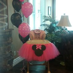 Minnie mouse Highchair tutu