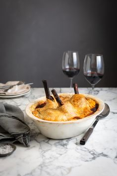 Lamb shank pie with red wine, rosemary & bay recipe #lamb #pie #recipe