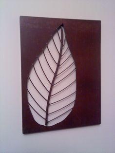 metal wall art leaf