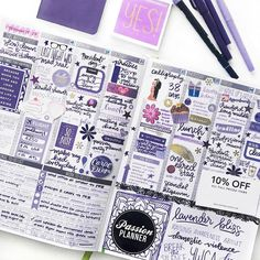 "4,618 Likes, 62 Comments - Passion Planner (@passionplanner) on Instagram: ""Today's #PCW is... @elicit4tography's!  - We are obsessed with her purple weekly layout!  Thanks…"""
