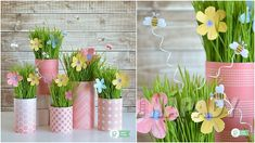 Creative Box, Easter 2020, Spring Decorations, Table Decorations, Easter Wreaths, Planter Pots, Big Shot, Crafts, Home Decor