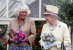 The Queen and The Duchess of Cornwall at Dumfries House, The Prince's restoration project in Ayrshire, Scotland
