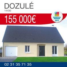 Habitat Concept vous propose ce pavillon avec garage à DOZULE (14430) pour 155 000€ TTC*