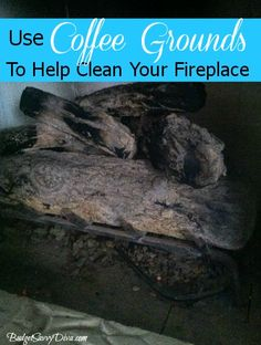 How to Use Coffee Grounds to Clean Your Fireplace
