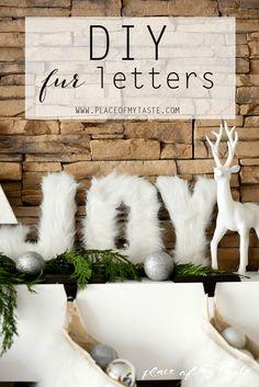 FUR LETTERS-Placeofmytaste.com