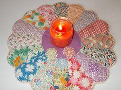 Cute dresden plate vintage quilt block by CulpsCozyQuiltCoop