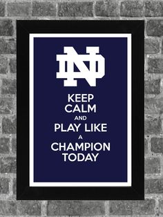 Keep Calm Notre Dame NCAA Print Art 11x17. $14.99, via Etsy.