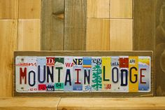Mountain Lodge Rustic Metal Sign Wilderness by JustPlateCrazy