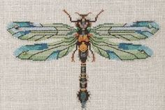 Emerald Dragonfly, The - Cross Stitch Pattern   For James's grandmother
