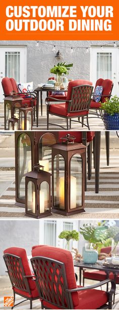 Your dream patio becomes reality with our selection of patio furniture. With more styles to choose from now than ever, browse our patio furniture collections and get patio design ideas from the experts. Outdoor Dining, Outdoor Spaces, Outdoor Decor, Dining Furniture, Outdoor Furniture Sets, Patio Design, House Design, My Pool, Outside Living