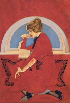 Reading Lady, Coles Philips