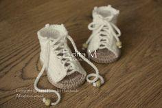 Crochet baby gladiator sandals baby sandals peep by EditaMHANDMADE