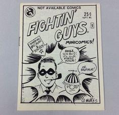 Fightin' Guys #1 Underground Comix Matt Feazell Mini-Comic Small Press 1985 #MattFeazell #SmallPressComics