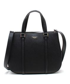 Love this Black Newbury Lane Sylvie Saffiano Leather Handbag by Kate Spade on #zulily! #zulilyfinds