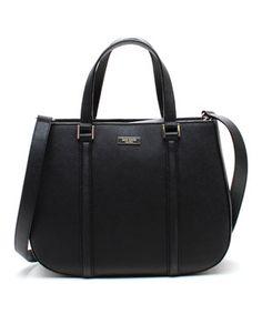 Love this Black Newbury Lane Sylvie Saffiano Leather Handbag by Kate Spade on #zulily! #zulilyfinds