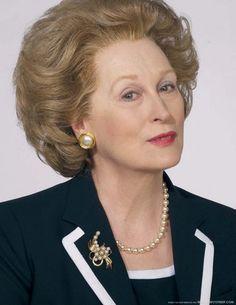 Meryl Streep as the Iron lady
