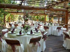 Hidden Creek Weddings  Lake Arrowhead Pine Rose Cabins 100-200 person reception area