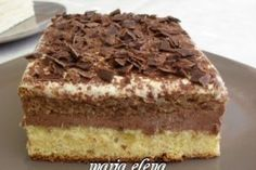 Desert prajitura Maria-Elena Summer Desserts, No Bake Desserts, Easy Desserts, Delicious Desserts, Sweet Recipes, Cake Recipes, Dessert Recipes, Romanian Desserts, Homemade Sweets