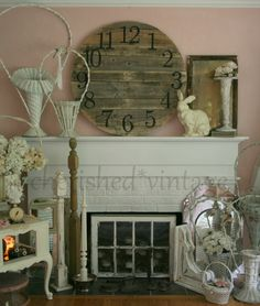 I really like all the reclaimed wood ideas out there!  This clock is way cool!