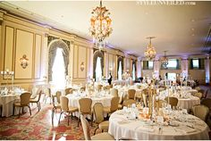 Wedding Reception at the Fairmont Olympic Hotel in Seattle, WA...DREAM!