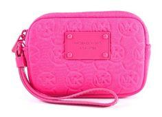 Michael Kors Electronics Zinnia Pink Neoprene Wristlet Michael Kors. $37.99
