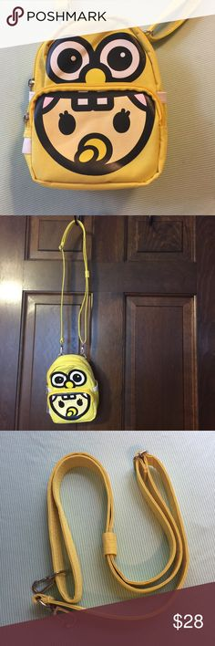 Crossbody Japan Cartoon Bag This is a new cute yellow crossbody bag from Japan. Has a strap that comes with it. Accessories Bags