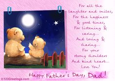 On Father/'s Day Dad With Love /& thanks For All That You Do Card Teddy Relaxing.