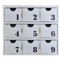 For makeup...Distressed Wood Cabinet with Drawers & Numbers – lightaccents.com