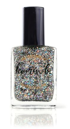 Sounds like a rock that Elizabeth Taylor might wear, and that's what inspired this polish. Packed with ultrafine flecks of silver glitter (in a Nail Trends, Color Trends, Half Moon Manicure, Pastel Nail Polish, Organic Skin Care, Silver Glitter, Beauty Nails, How To Do Nails, You Nailed It