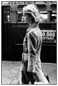 Jean Shrimpton in New York, 1962. Photographed by David Bailey.