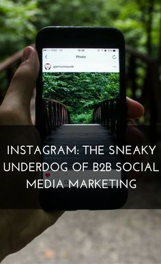 Instagram: The Sneaky Underdog of B2B #SocialMediaMarketing. Despite #LinkedIn's clear professional agenda, other platforms are increasingly being used for B2B marketing purposes. This blog post will look at why Instagram is the sneaky underdog for marketing your #niche, B2B company.