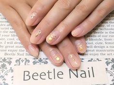 Nail Art - Beetle Nail : 八幡 大人ヌーディ