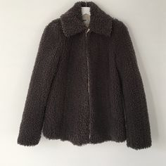 ASOS Swing Jacket in Teddy Texture Cute minimal jacket with great shape. Worn once in excellent condition. Very warm. UK 8, US 4 ASOS Jackets & Coats