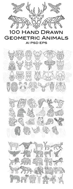 100 Hand Drawn Geometric Animals 100 Hand Drawn Geometric Animals The post 100 Hand Drawn Geometric Animals & tapeart appeared first on Geometric paint . Geometric Artists, Geometric Art Tattoo, Geometric Drawing, Geometric Designs, Geometric Animal, Geometric Painting, Geometric Lines, Animal Paintings, Animal Drawings