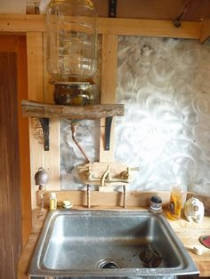 Cedar Boards, Interior Architecture, Interior Design, Camping Items, Off The Grid, Water Systems, Basin, Faucet, Modern Gypsy