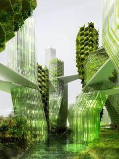 Symbio2 : La France se lance dans la conception de façades écologique en micro algues. Seas of the world, la ville du futur