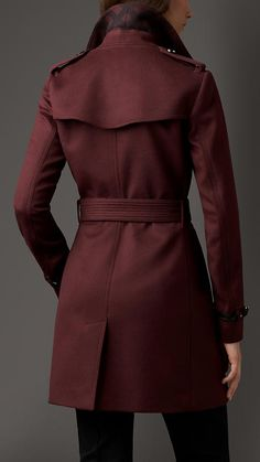 Virgin Wool Cashmere Trench Coat   Burberry