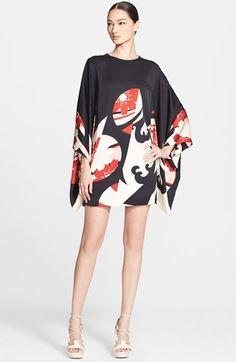 Alexander McQueen Print Satin Caftan Dress available at #Nordstrom