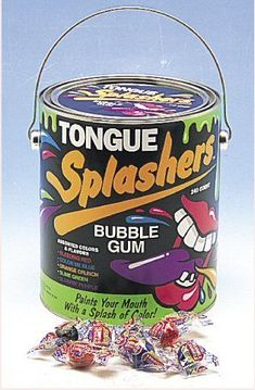 Tongue Splashers Gum - oh my gosh! I remember these! Childhood Memories 90s, Childhood Toys, Kitsch, It's Over Now, I Remember When, 80s Kids, Ol Days, Good Ole, The Good Old Days