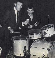 "Adam ""Batman"" West jams with Leonard ""Spock"" Nimoy, 1967"