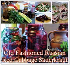 The Homestead Survival | Old Fashioned Russian Red Cabbage Sauerkraut | Recipe - http://thehomesteadsurvival.com