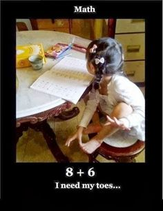 Math Humor | 8 + 6 I need my toes! | From Funny Technology - Google+ via Smartphoneaccessories Witrigs