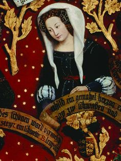 The Babenberger Genealogie (detail) | this panel painting, dated 1489-1492s, shows the female genealogie of the Babenberger family.
