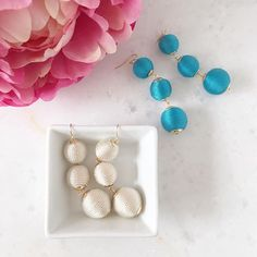 We've been wearing these every single day 💕💕  #cantstopwontstop #obsessed #earrings #lesbonbon #earrings #statementearrings #chic #fun #spring #jewelry #sparkle #pretty #fashion