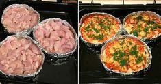 """Piept de pui la cuptor """"Surpriză"""" – o cină porționată fără mari bătăi de cap!"""